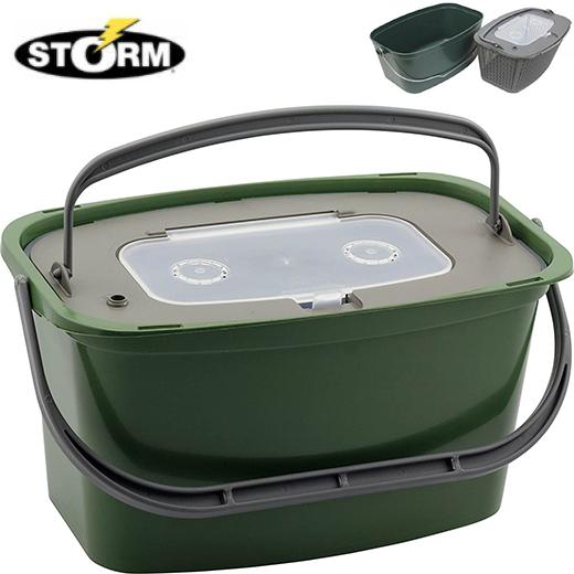 Cubo Vivero Storm Verde Rectangular 7L