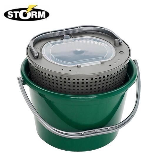 Cubo Vivero Storm Verde Redondo 13L