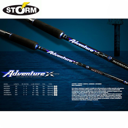 Caña Storm Adventure Xtreme Spin 802H