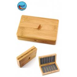 Caja moscas bambu