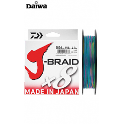 Trenzado Daiwa J-Braid X8 Multicolor