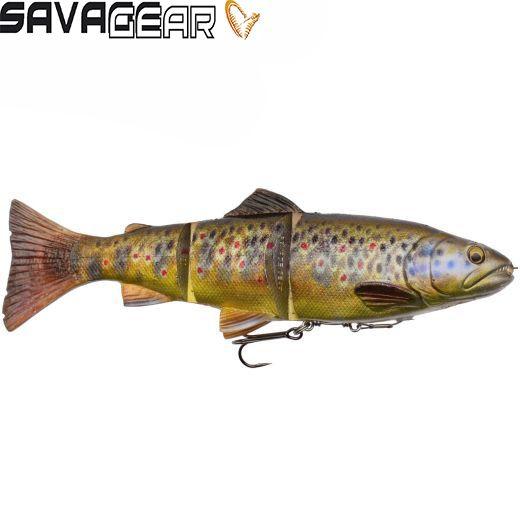 Vinilo Savage Gear 4D Trout Line Thru Swim Bait Brown Trout