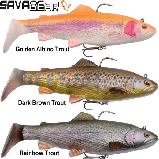 Vinilo Savage Gear 4D Trout Rattle Shad 20cm