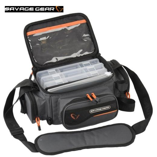 Bolsa Savage Gear System Box Bag S + 3 Lure Boxes