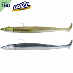 Doble Combo Vinilo Fiiish Crazy Paddle Tail 150 Off Shore 20g - Kaki - Bleu Nacre